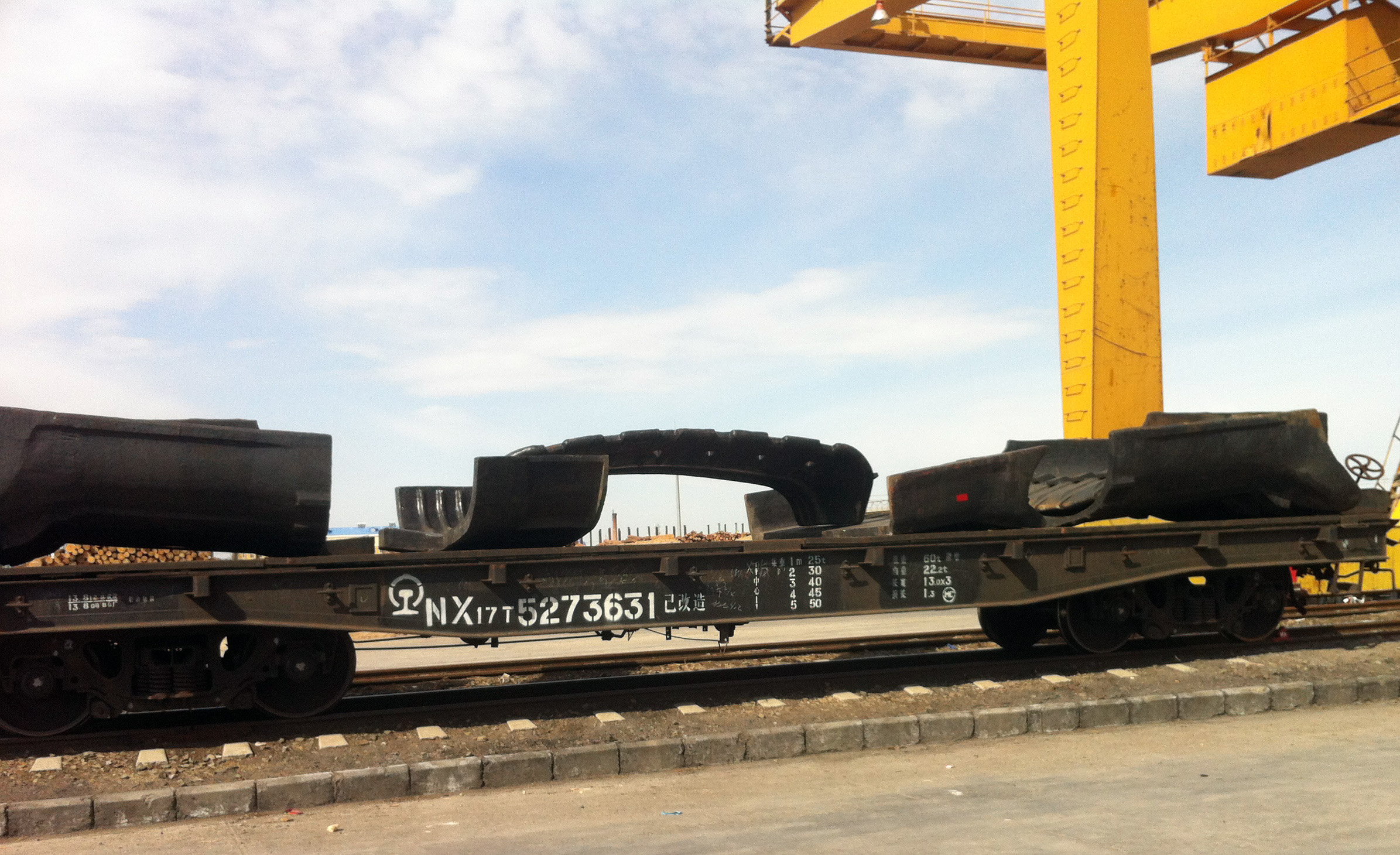 High manganese steel product railway transportation